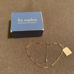 Lia Sophia - silver and gold adjustable bracelet
